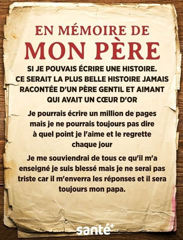 Lettre à Mon Papa